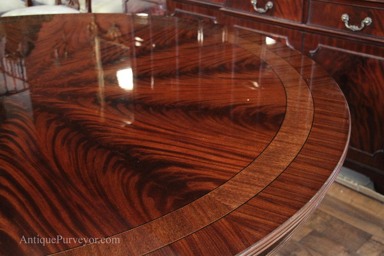 72 High End Round Mahogany Dining Table Antique Reproduction Dining Ro