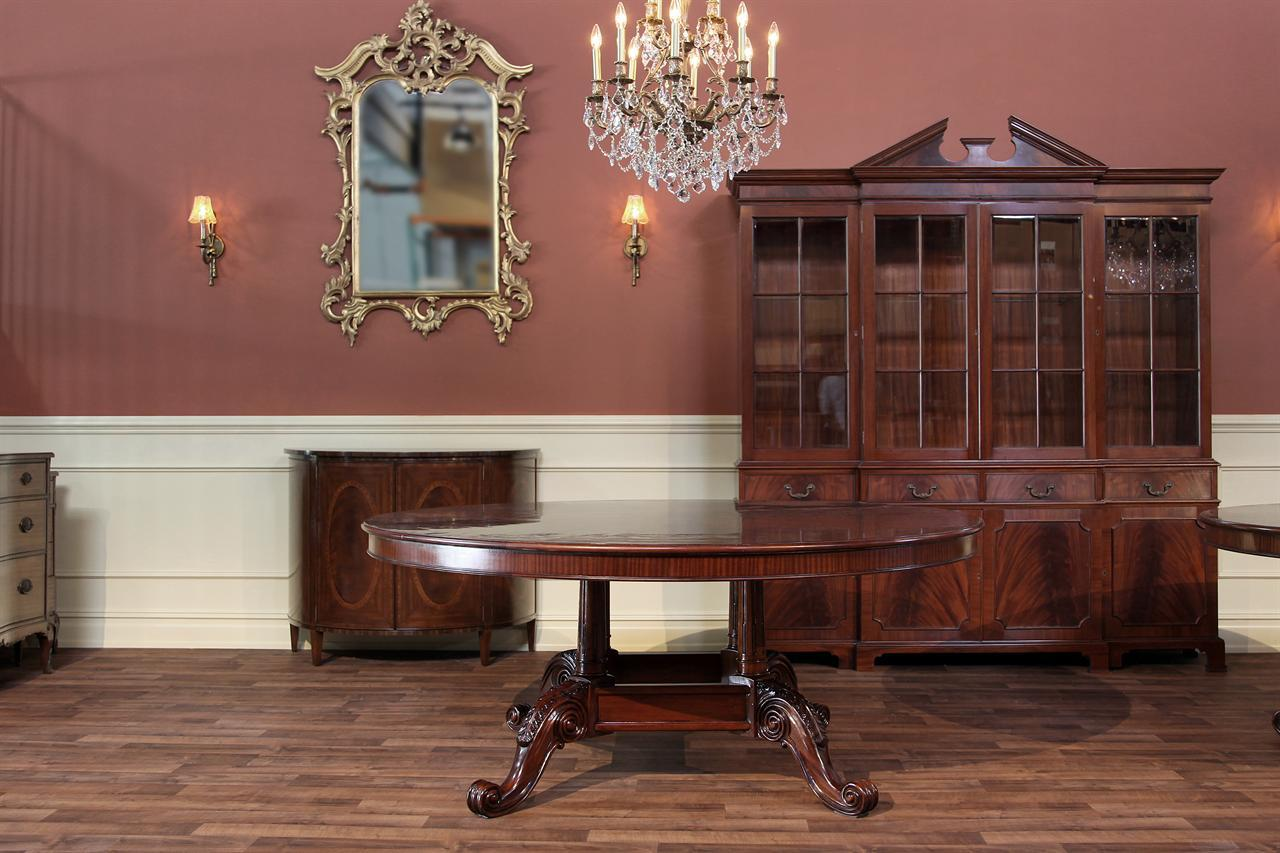 72 round mahogany dining tableformal dining table in walnut finish - 72 Round Dining Table