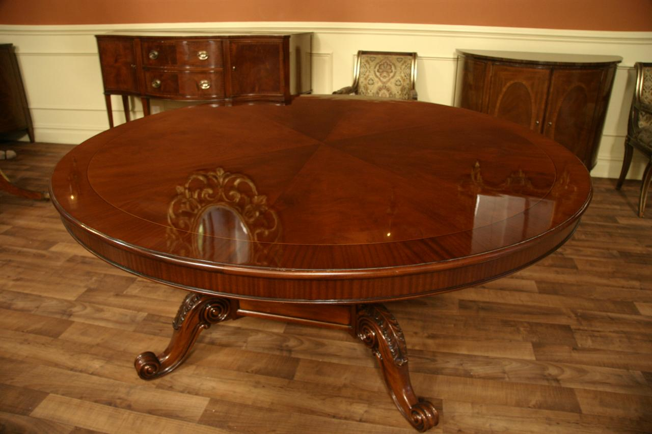 72 Round Table Mahogany Dining Table Formal Dining Ebay
