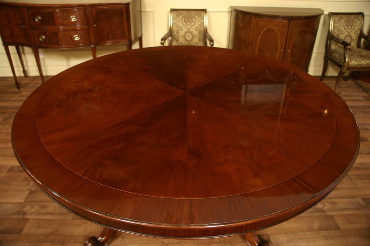 72 round table mahogany dining table formal dining ebay for Fancy round dining table