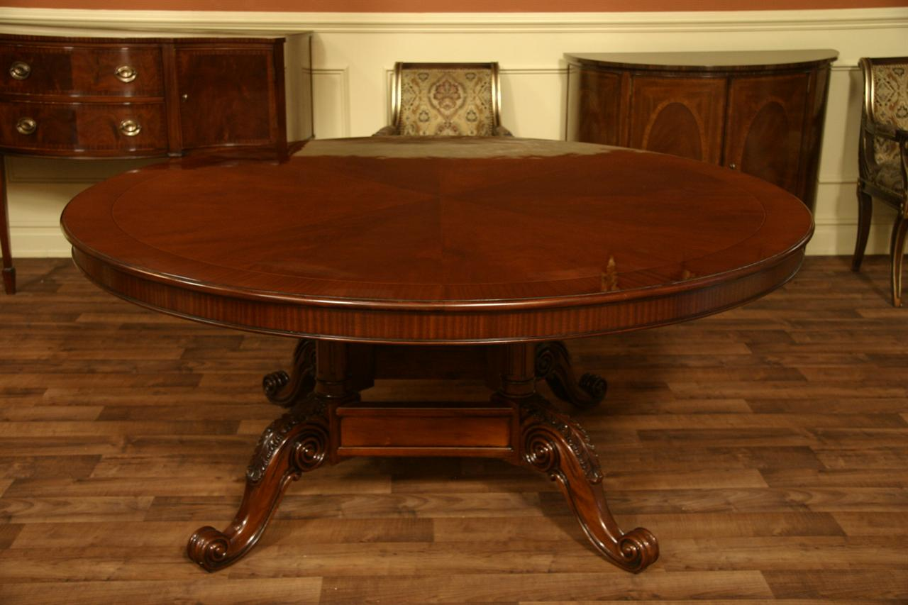 Details about 72 Round Table  Mahogany Dining Table  Formal Dining