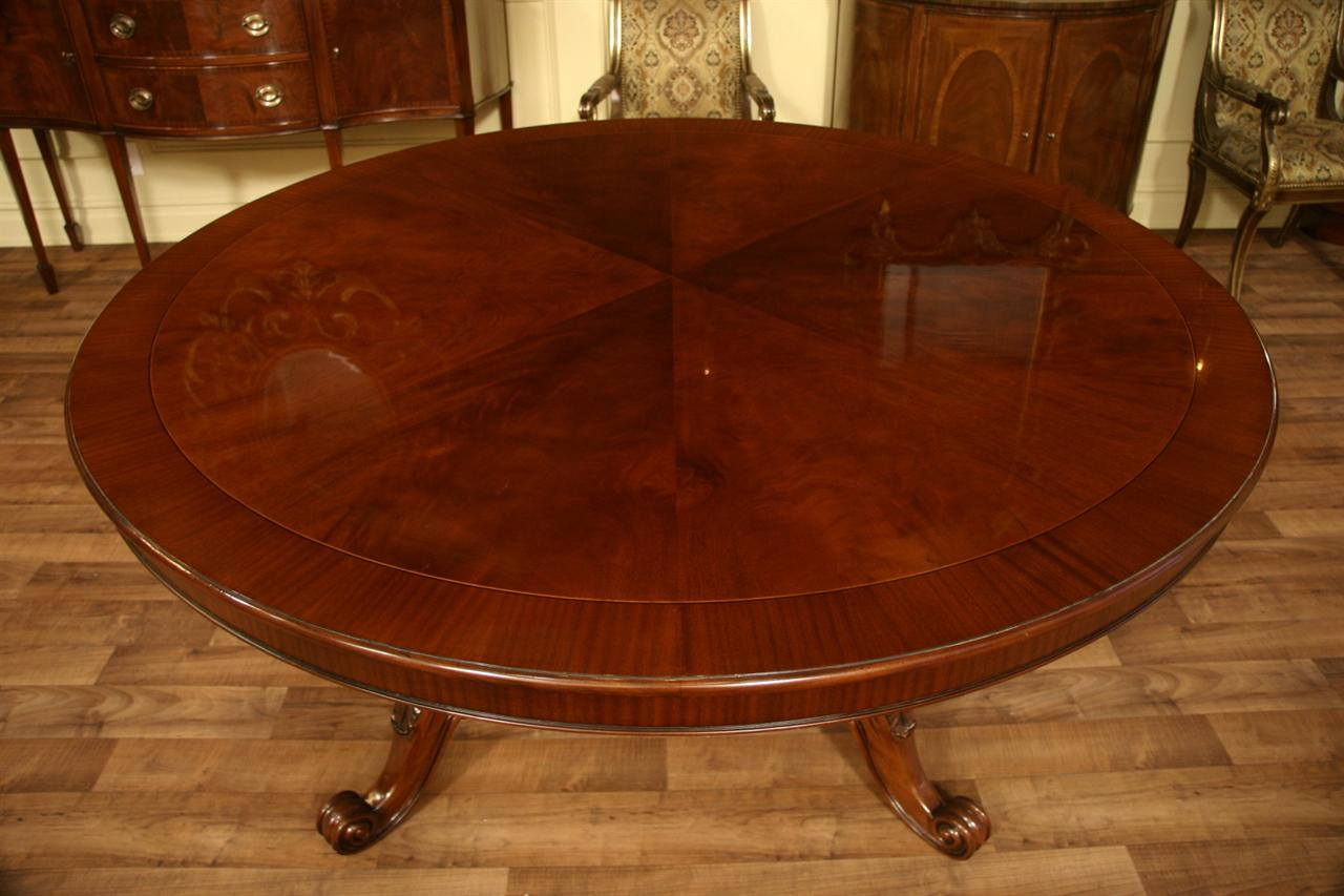 72 round table mahogany dining table formal dining for Fancy round dining table