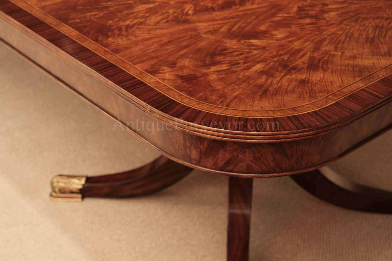 12 Foot Mahogany Dining Table Corner Details