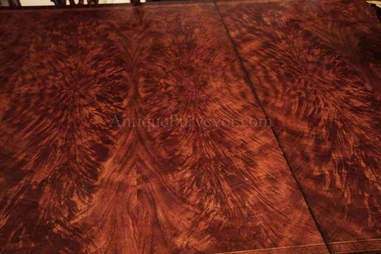 12 Foot Mahogany Dining Table With Self Storing Leaves
