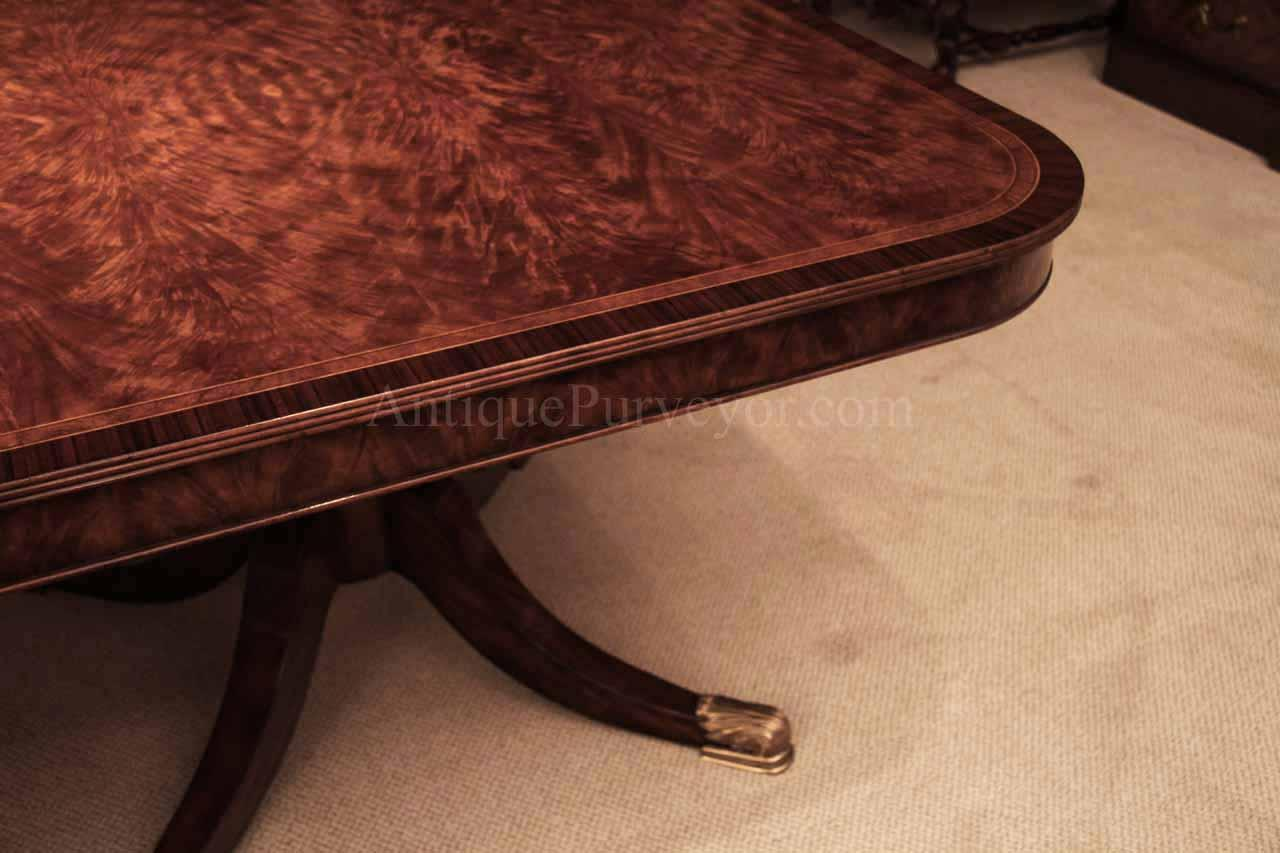 Flame mahogany dining table for seating 8 14 people 12 for 12 foot table