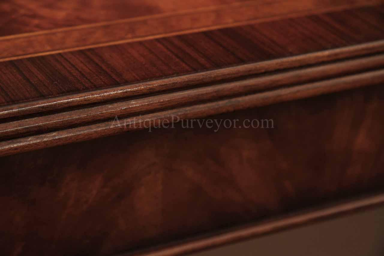 12 Foot Flame Mahogany Dining Table for Seating 8-14 People