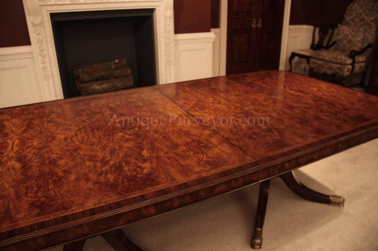 Flame mahogany dining table for seating 8 14 people 12 for 8ft dining room table