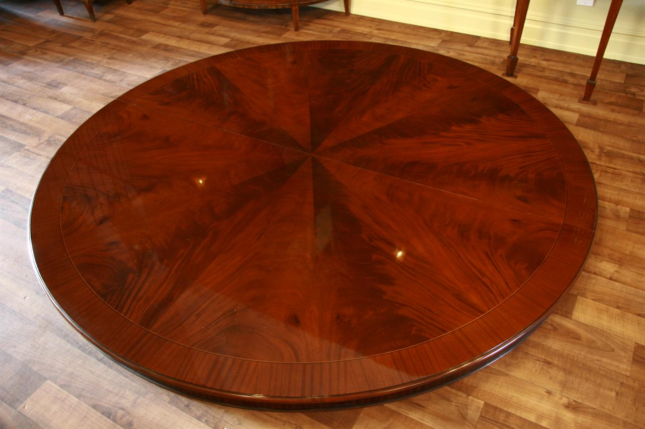84 round dining table large round table mahogany ebay for Large round dining table