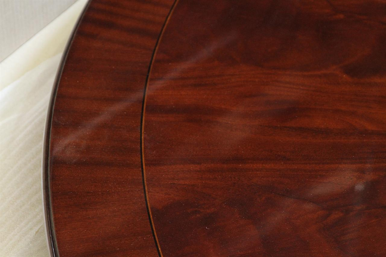Extra Large Round Mahogany Dining Table