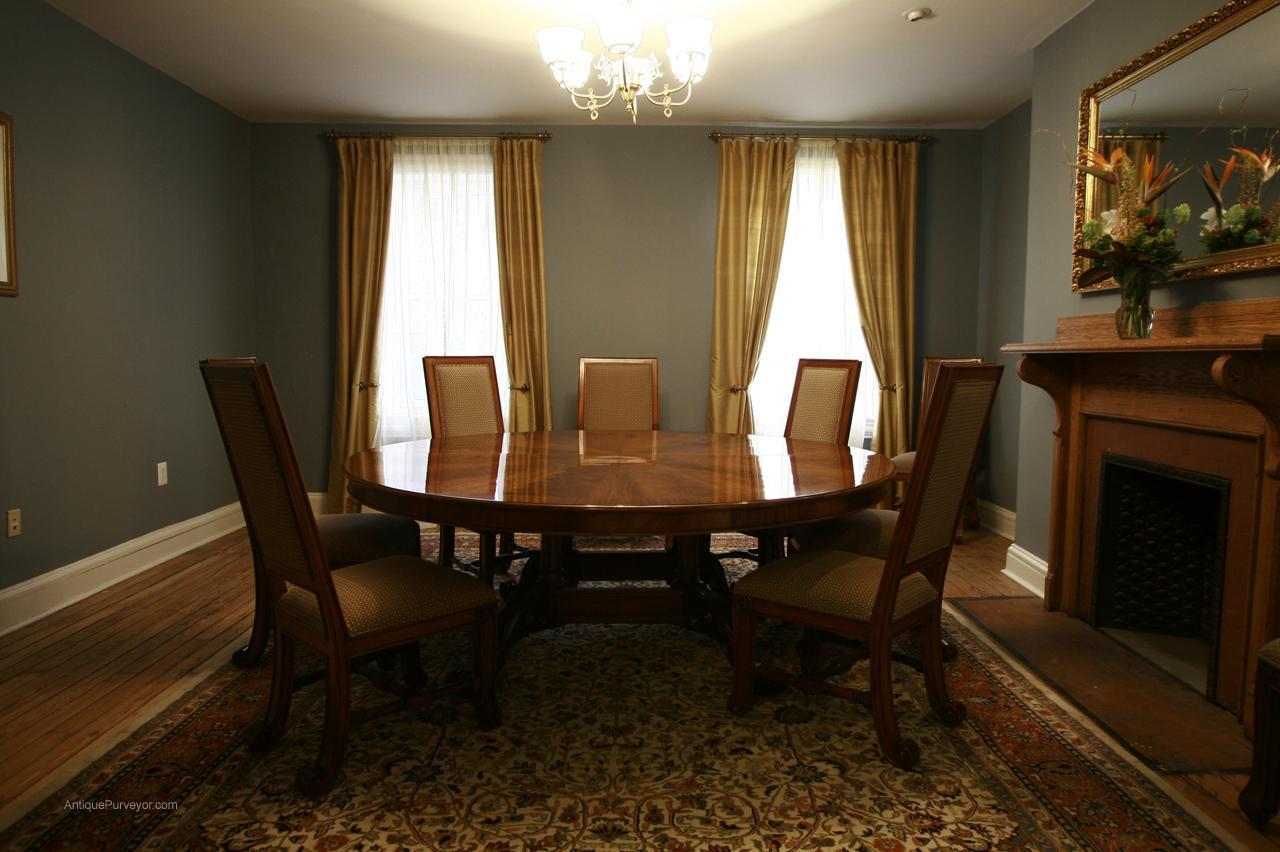 Extra Large Round Mahogany Dining Table