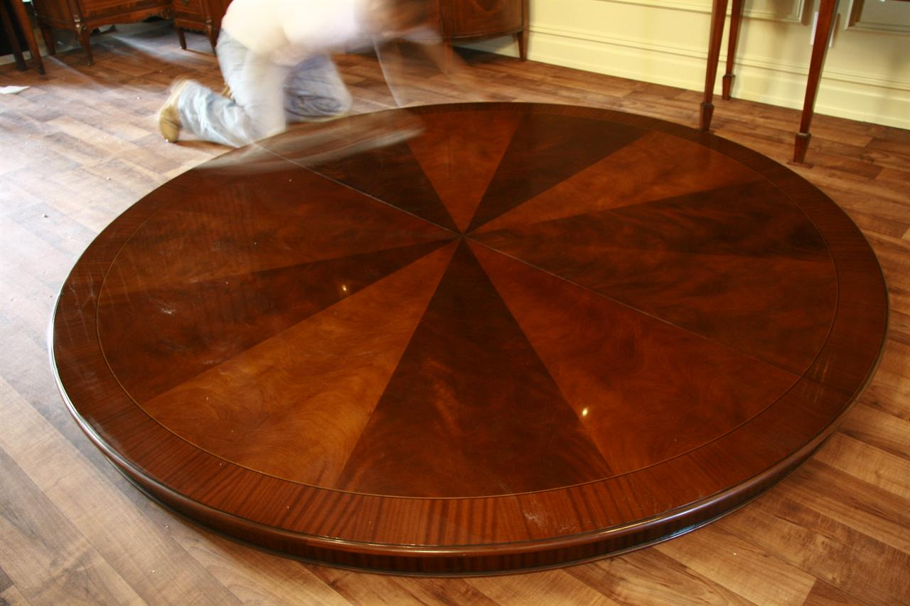 84 Round Dining Table Round Mahogany Dining Table Walnut Finish 4540