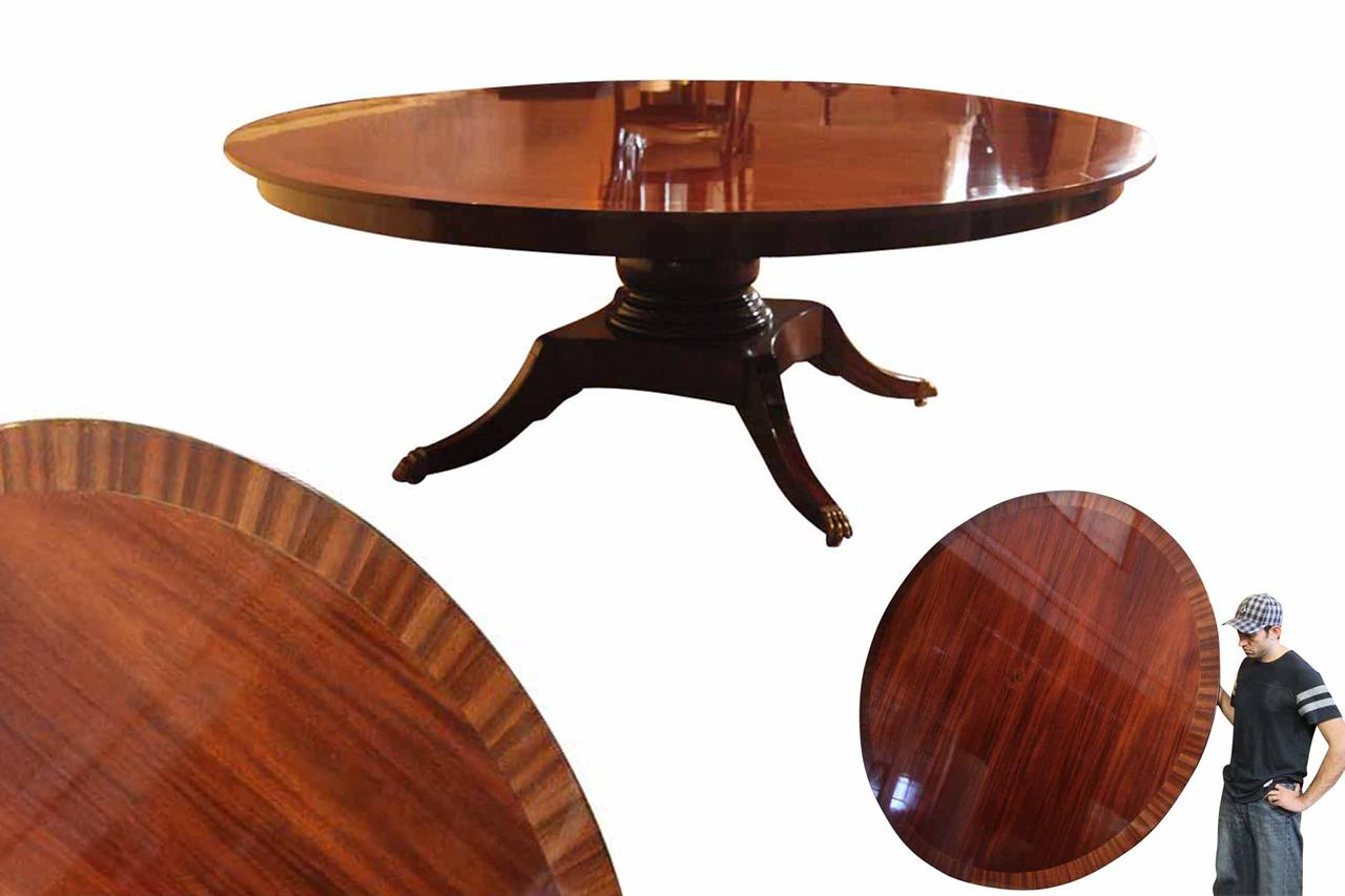 Custom American Made Classic 84 Inch Round Dining Table