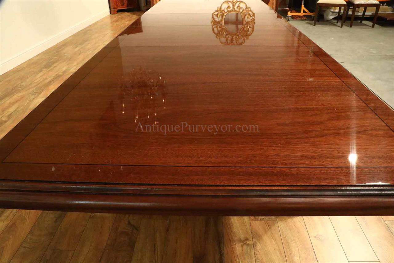 Mahogany Conference Room Table Or Boardroom Table, Custom American Made
