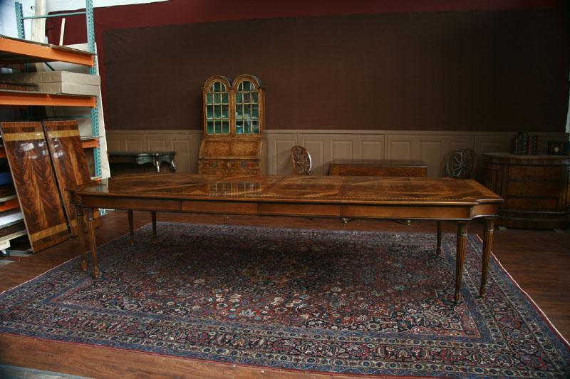 American Made Dining Room Table In Louis Xvi Style