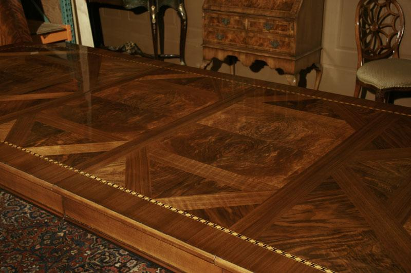 American Made Dining Table. Walnut Veneers Are Typical On French Style Dining  Tables
