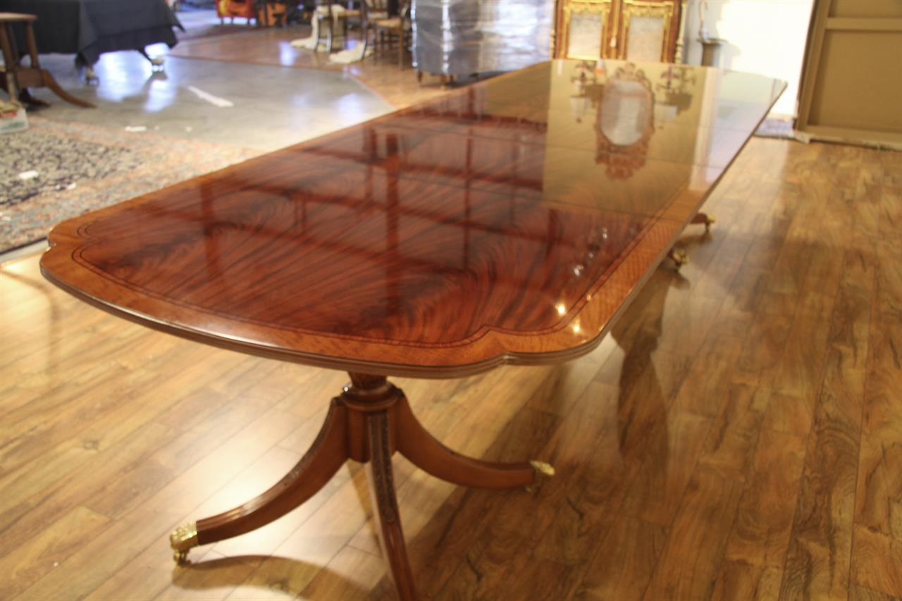 new american made high end flame mahogany dining table. Black Bedroom Furniture Sets. Home Design Ideas
