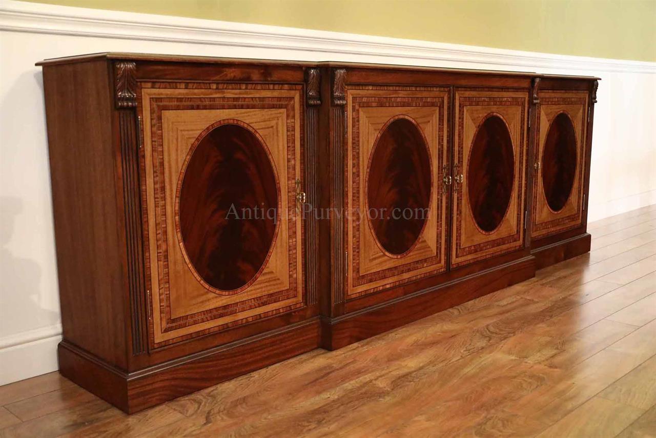 Large Mahogany Sideboard Extra Large 9 Foot Credenza