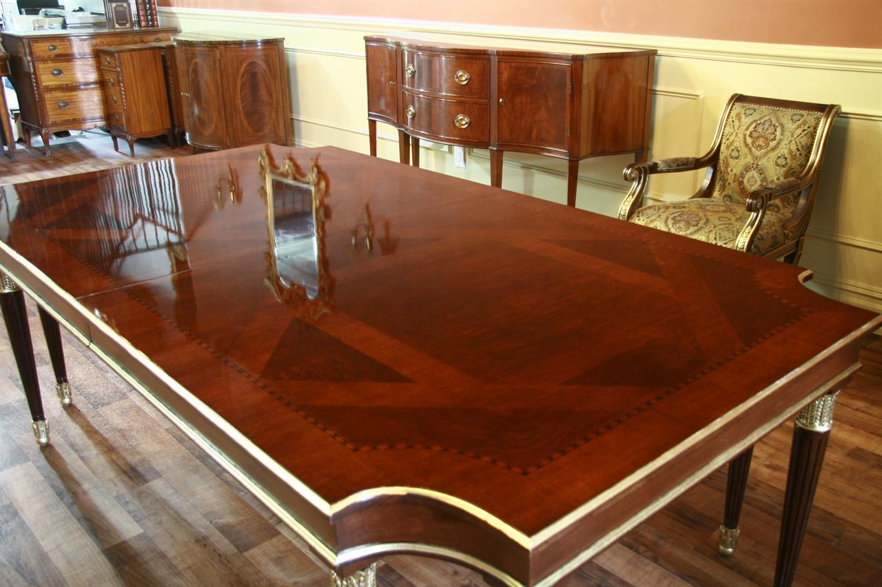 Dining Room Table American Made Dining Table Gold Leaf