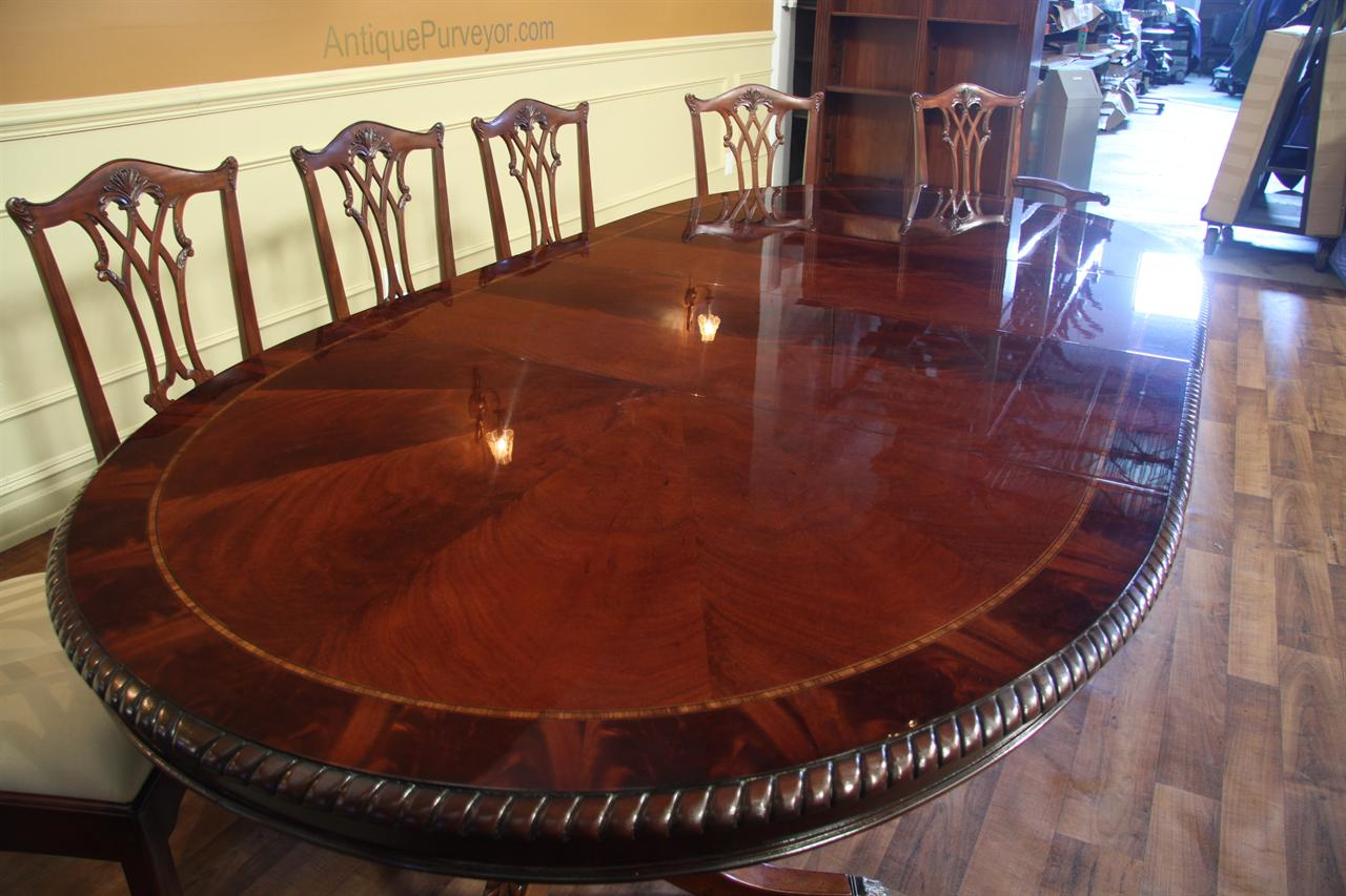 Oval Double Pedestal Dining Table American Made