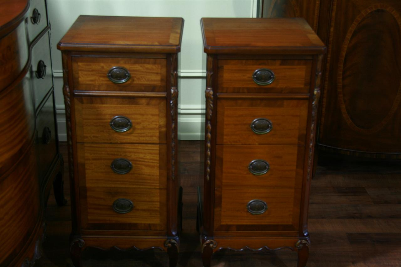 bedroom nightstands on Antique Mahogany Nightstands  John Stuart Bedroom