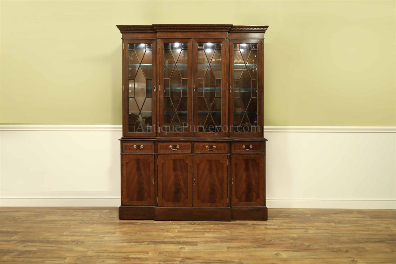 High-End Traditional Mahogany Dining Room China Cabinet