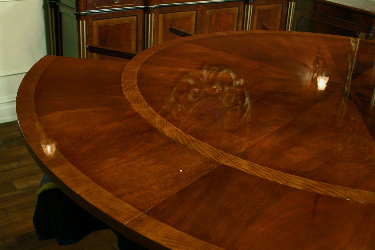 Round Mahogany Dining Room Table With Satinwood Bandings Is A Classical Adams Style