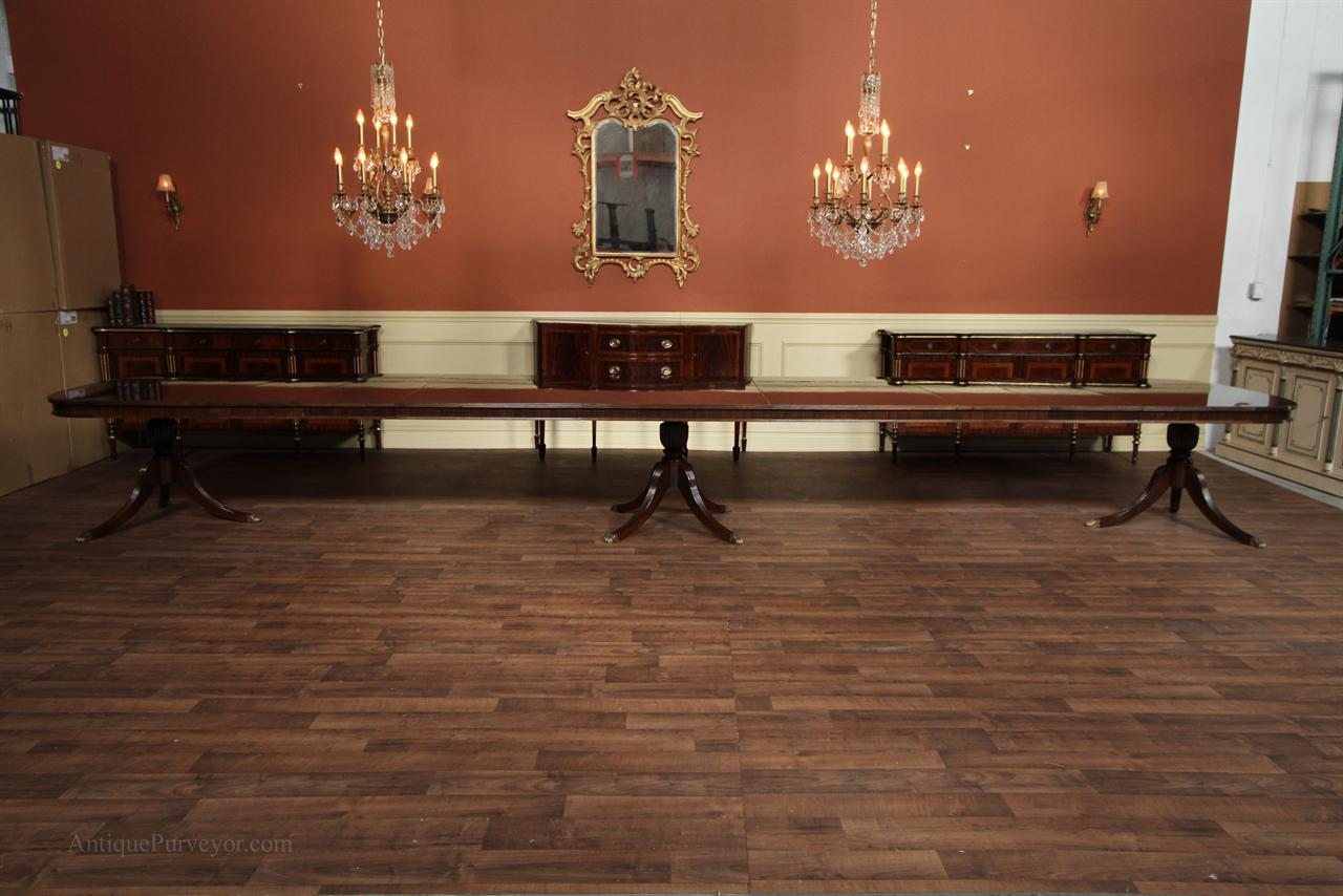 Antique Reproduction Furniture Extra Large Dining Table