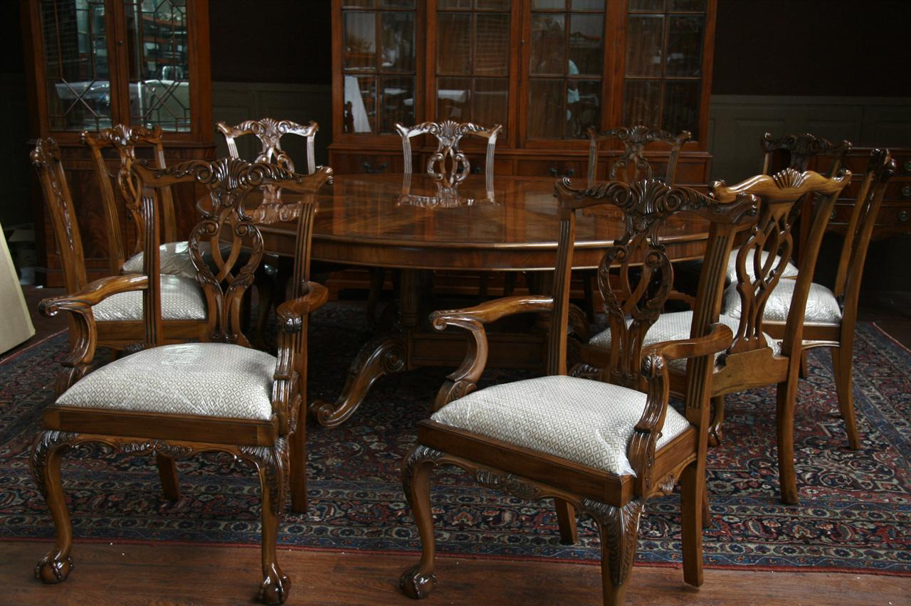 mahogany chippendale dining chairs fine reproduction furniture