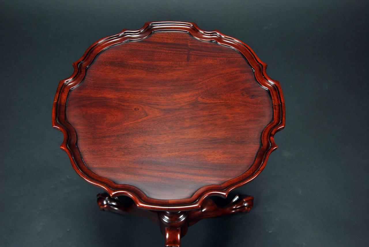 Ball And Claw Pie Crust Table Mahogany Antique Reproductions