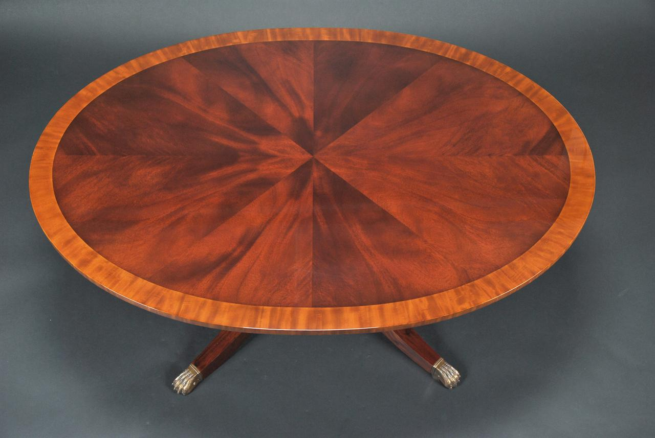 Inlaid Banded Mahogany Coffee Table