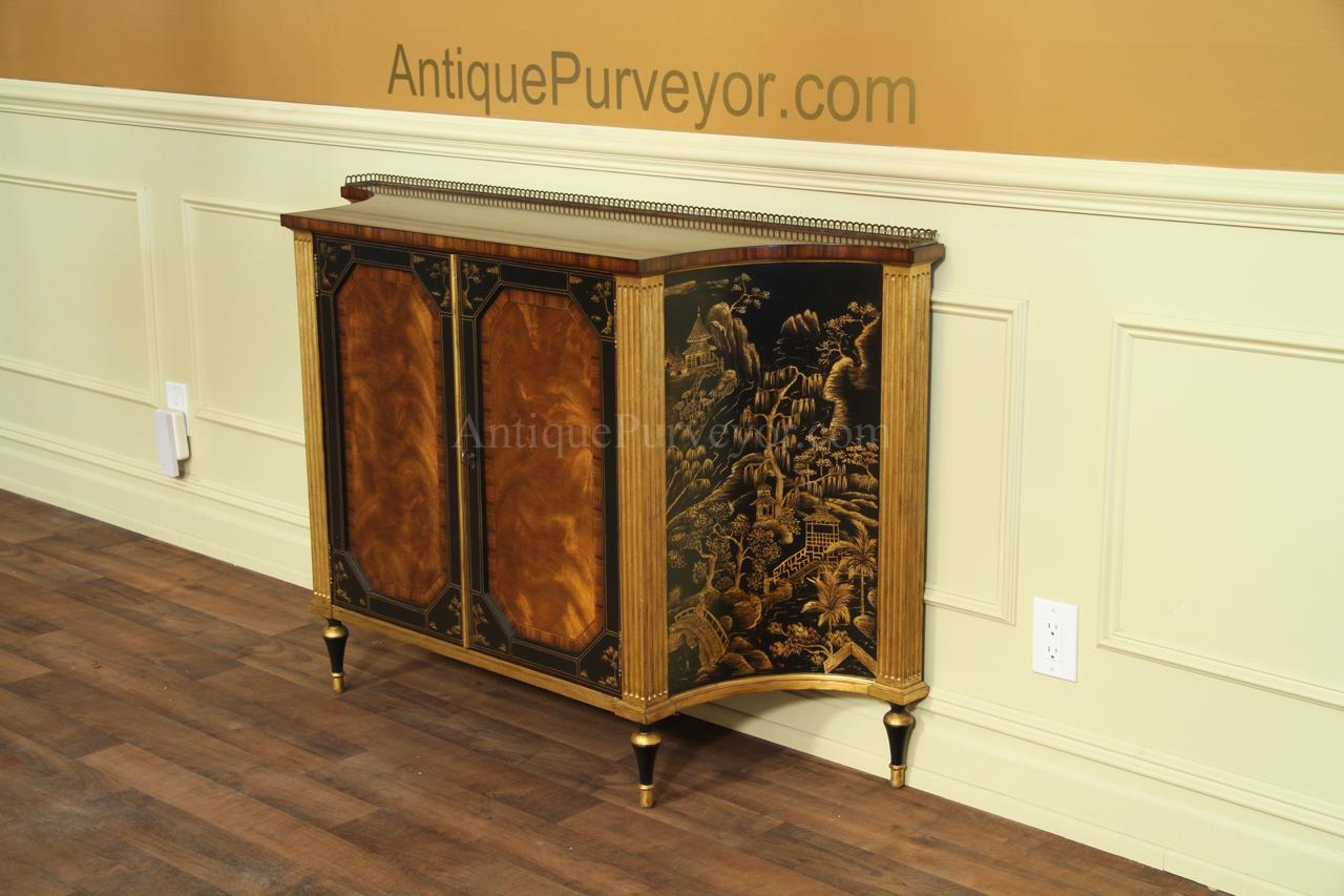 Serpentine Shape Buffet Or Server Cabinet