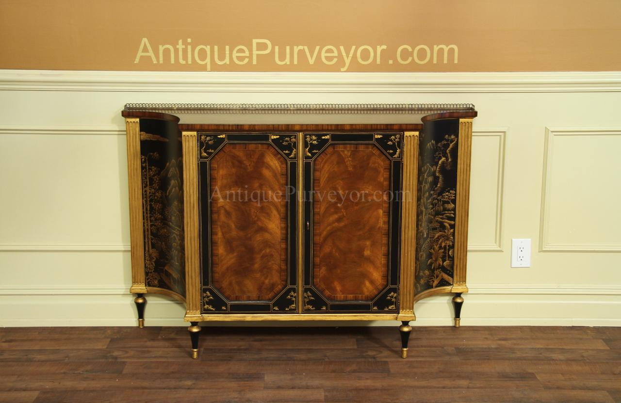 Mahogany And Rosewood Dining Room Buffet Gold And Black