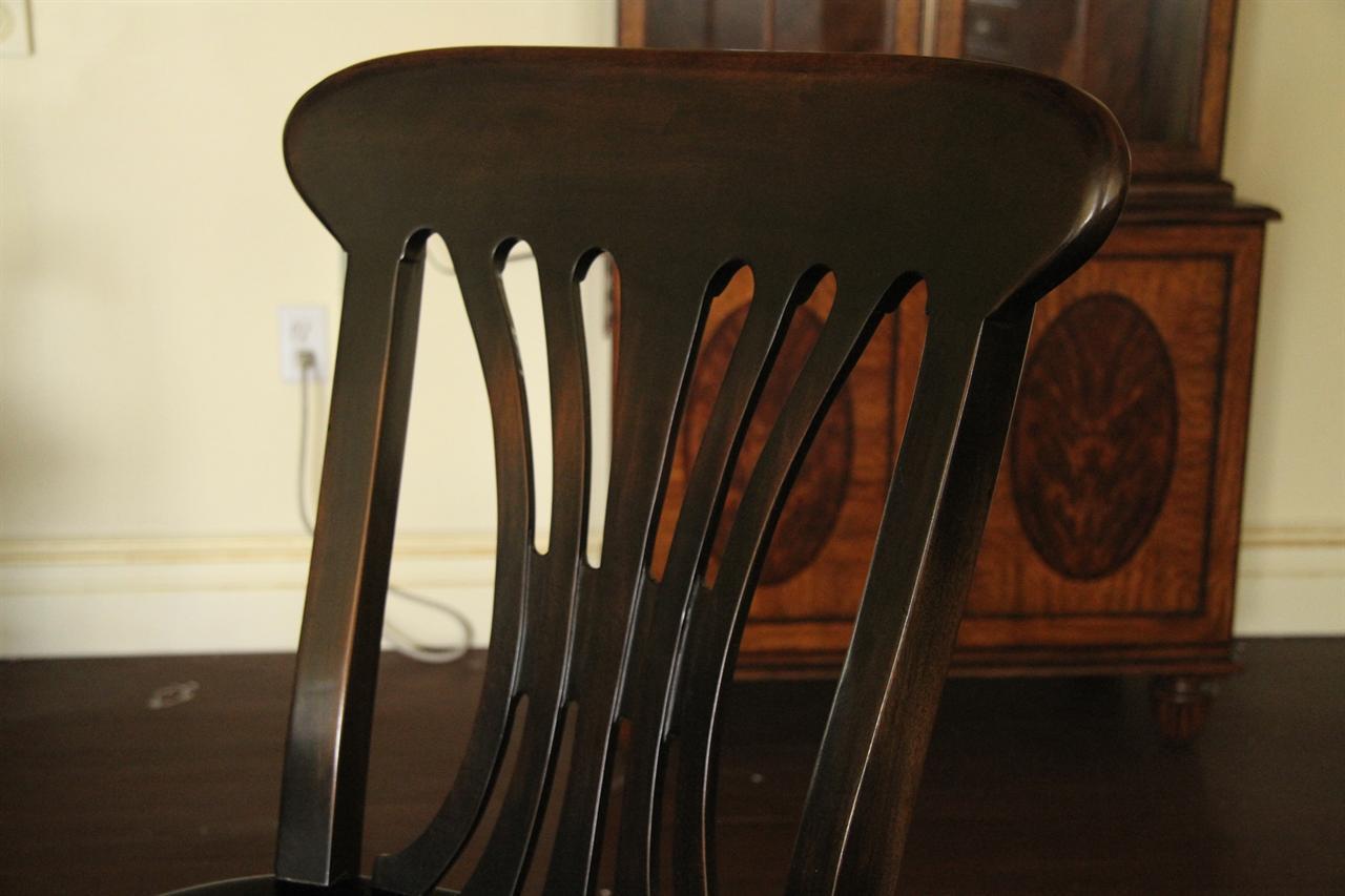 Black Country Chairs Solid Walnut Ebony Finish Kitchen
