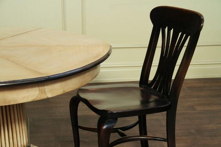 Black Country Chairs, Solid Walnut, Ebony Finish, Kitchen Dining