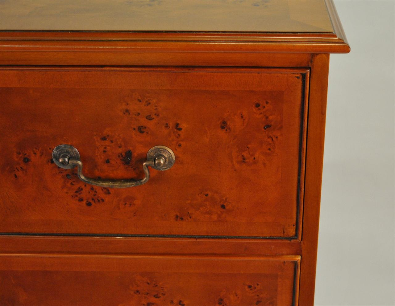 Burled Chest Of Drawers