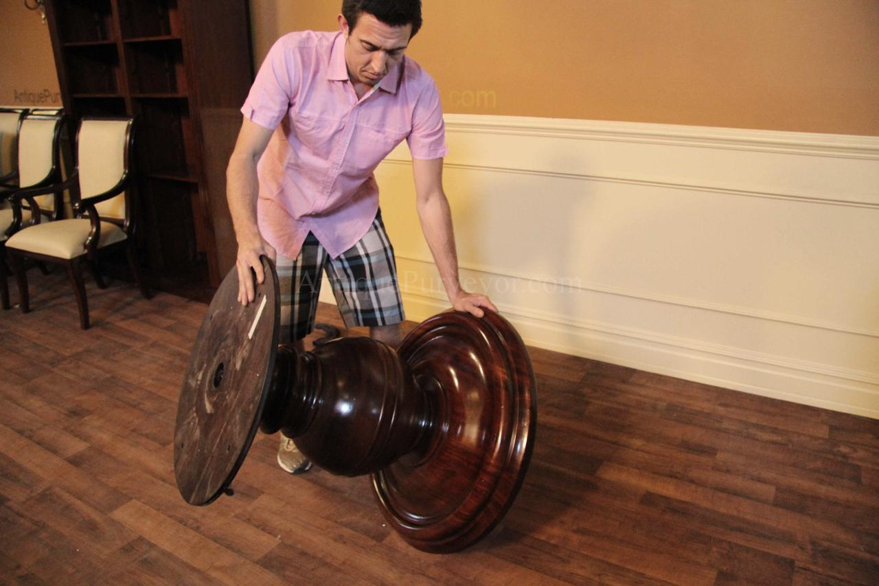 Eric And I Had A Tough Time Moving This Pedestal. It Is Very Heavy And  Solid Mahogany