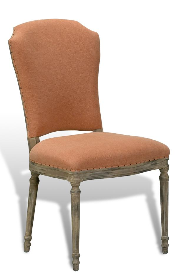 8 casual upholstered dining chair with peach pastel fabric set of 8 side chairs. Black Bedroom Furniture Sets. Home Design Ideas