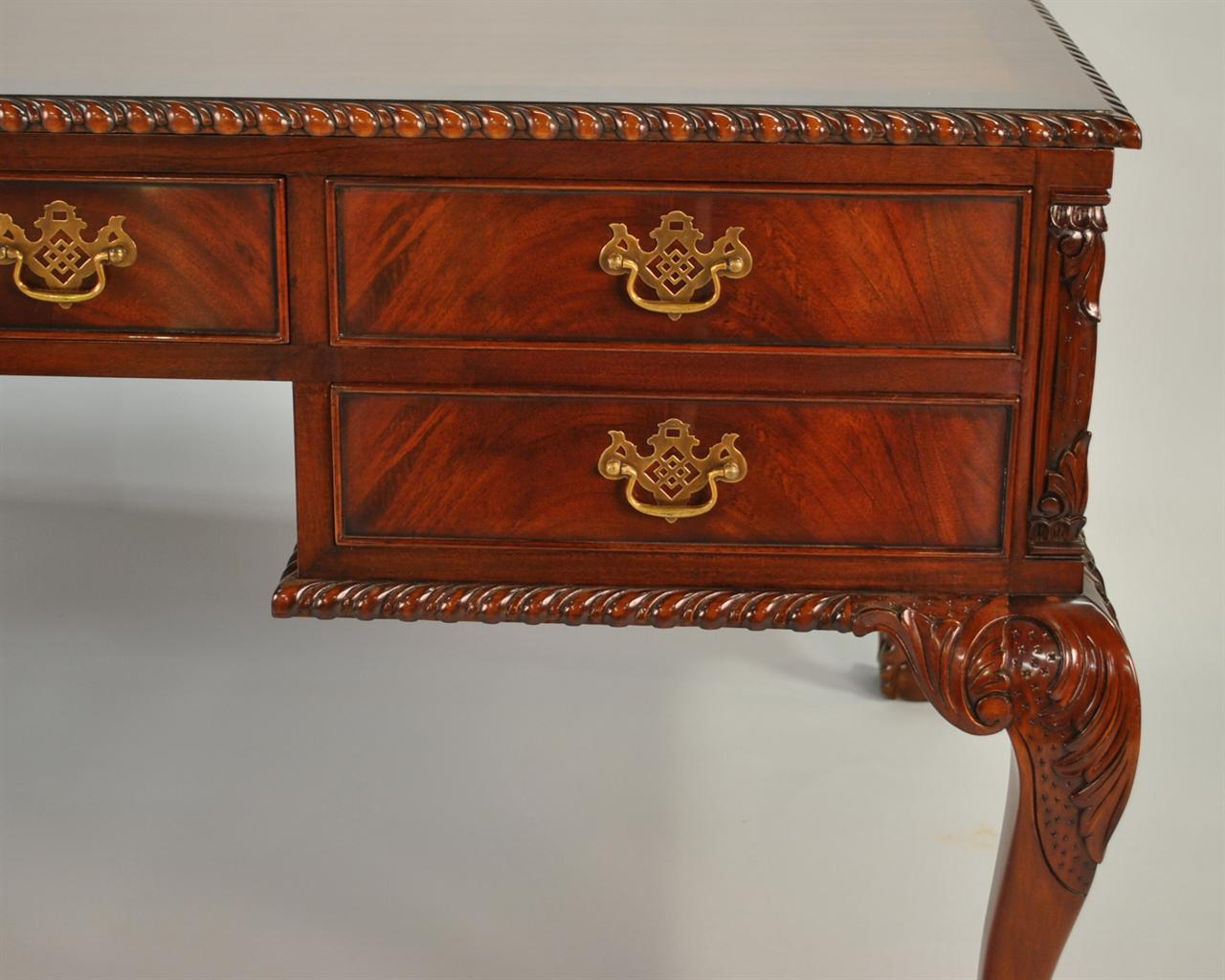 High End Partners Desk Made From Fine Gany