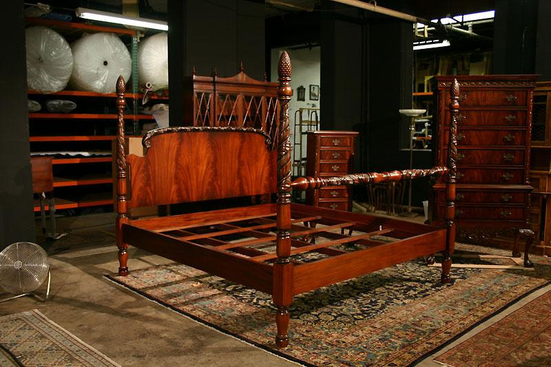 Mahogany Chippendale Bedframe King Size