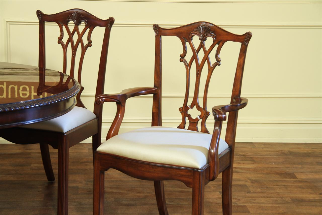 chippendale dining chairs solid mahogany straight leg chairs