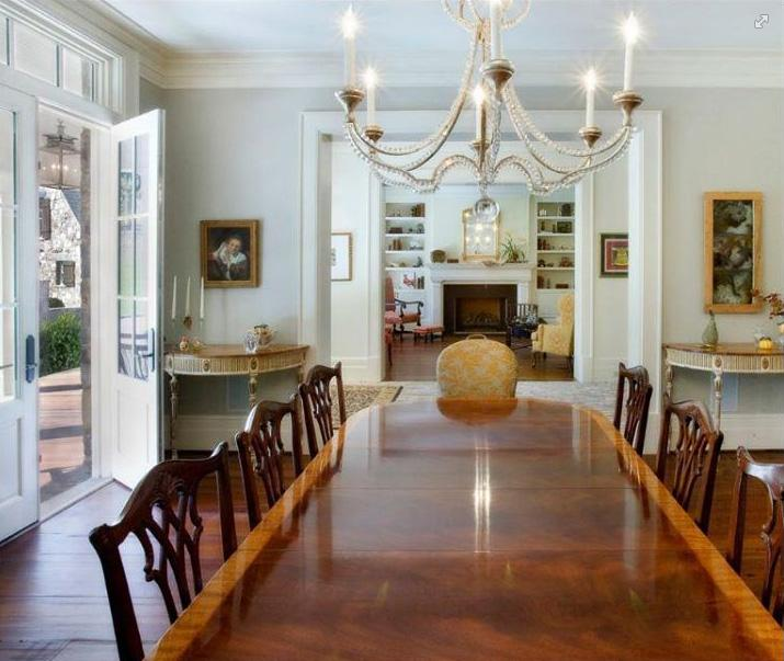 Antique-Style Mahogany Chippendale Dining Chairs