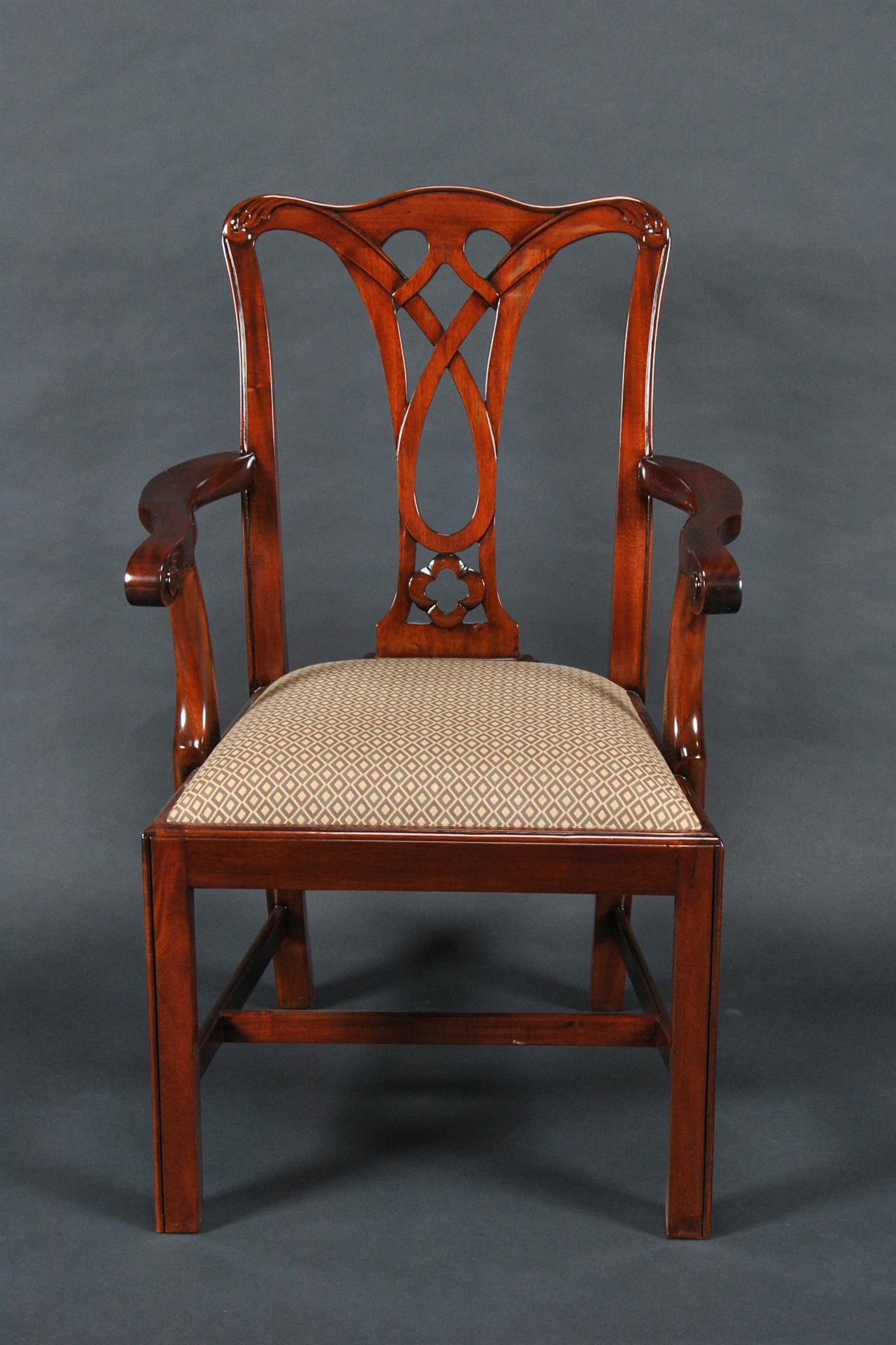Chippendale Mahogany Straight Leg Dining Chair