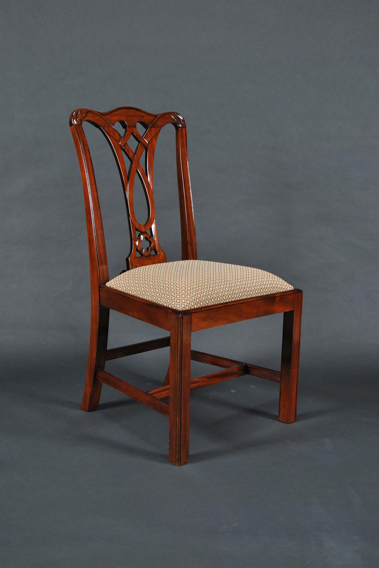 Mahogany Dining Room Chairs, Chippendale Chairs