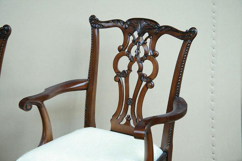 Chippendale Chairs Ebay Chippendale Solid Mahogany Straight Leg Dining Room Chairs Sullivan