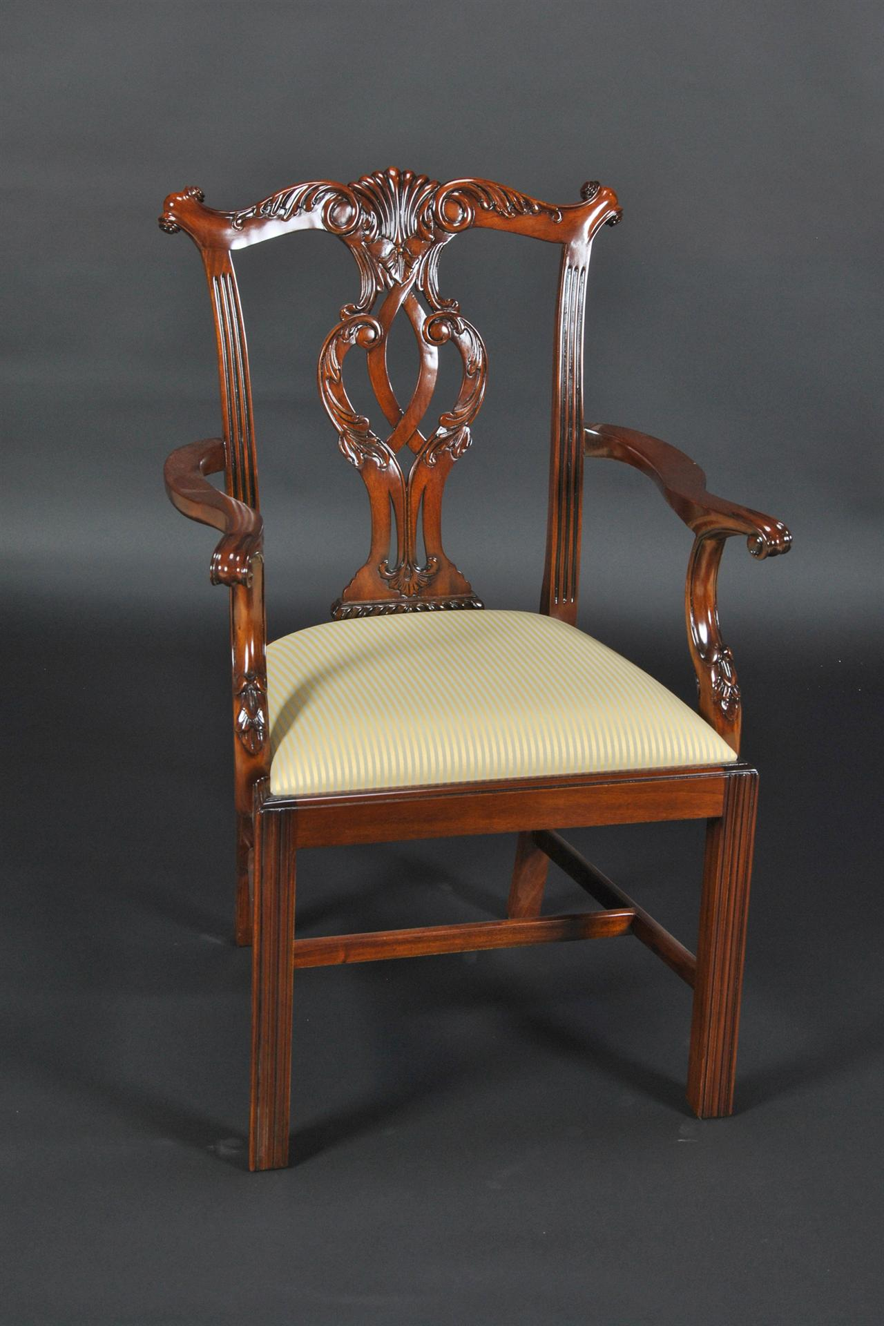 Chippendale Straight Leg Dining Room Chairs Philidelphia