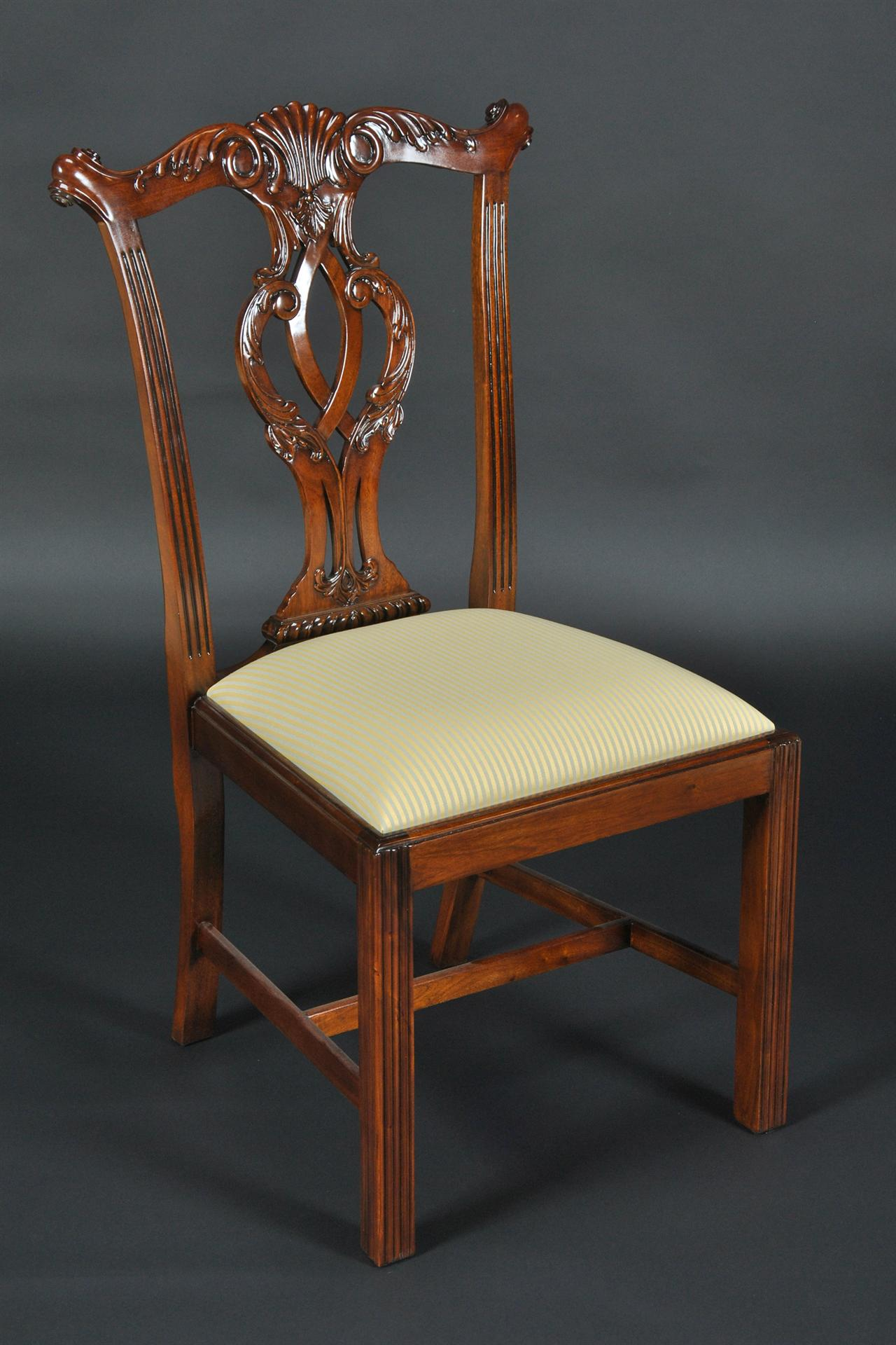 Chippendale Straight Leg Dining Room Chairs. Philidelphia