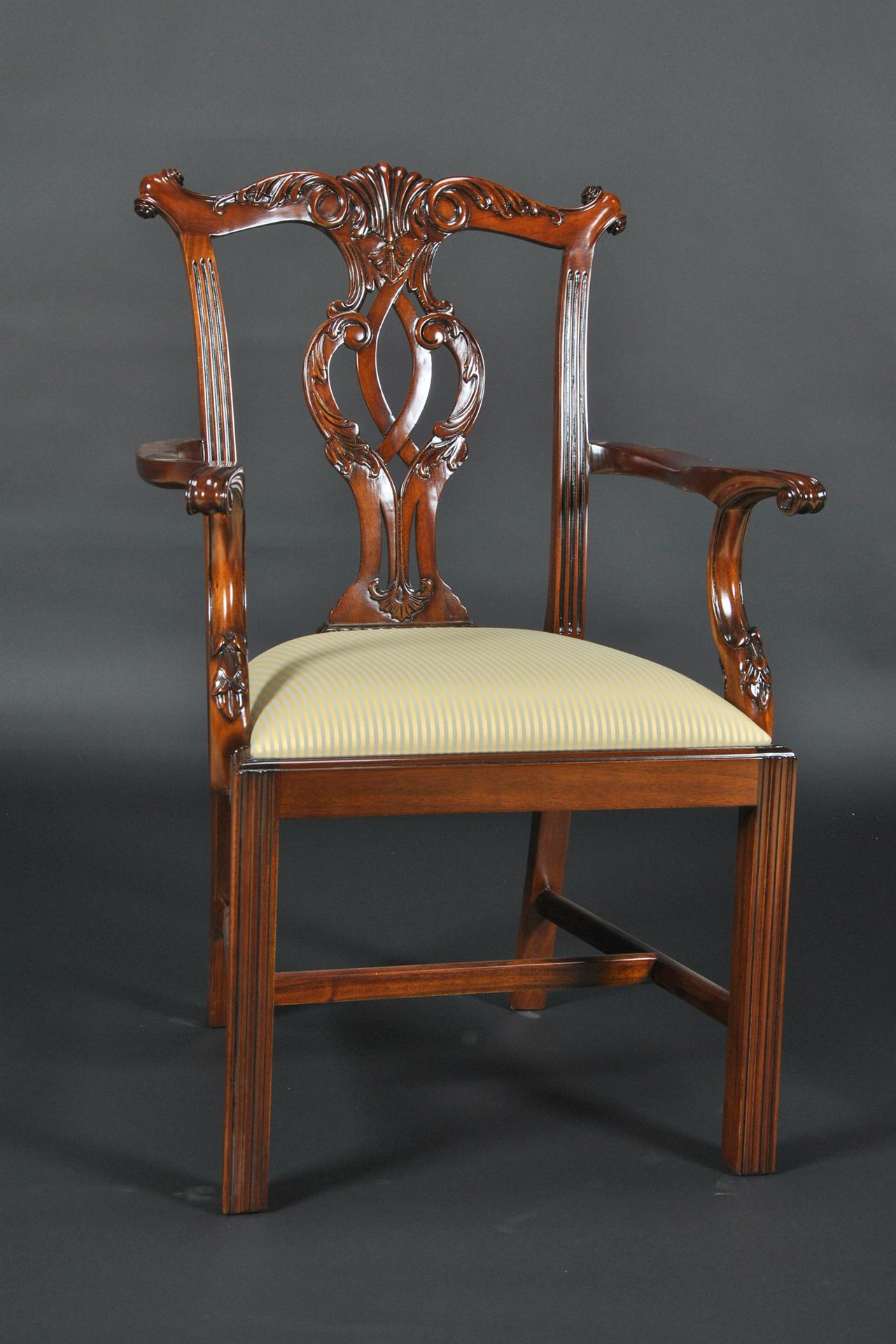Chippendale Straight Leg Dining Room Chairs. Traditional Dining Chair