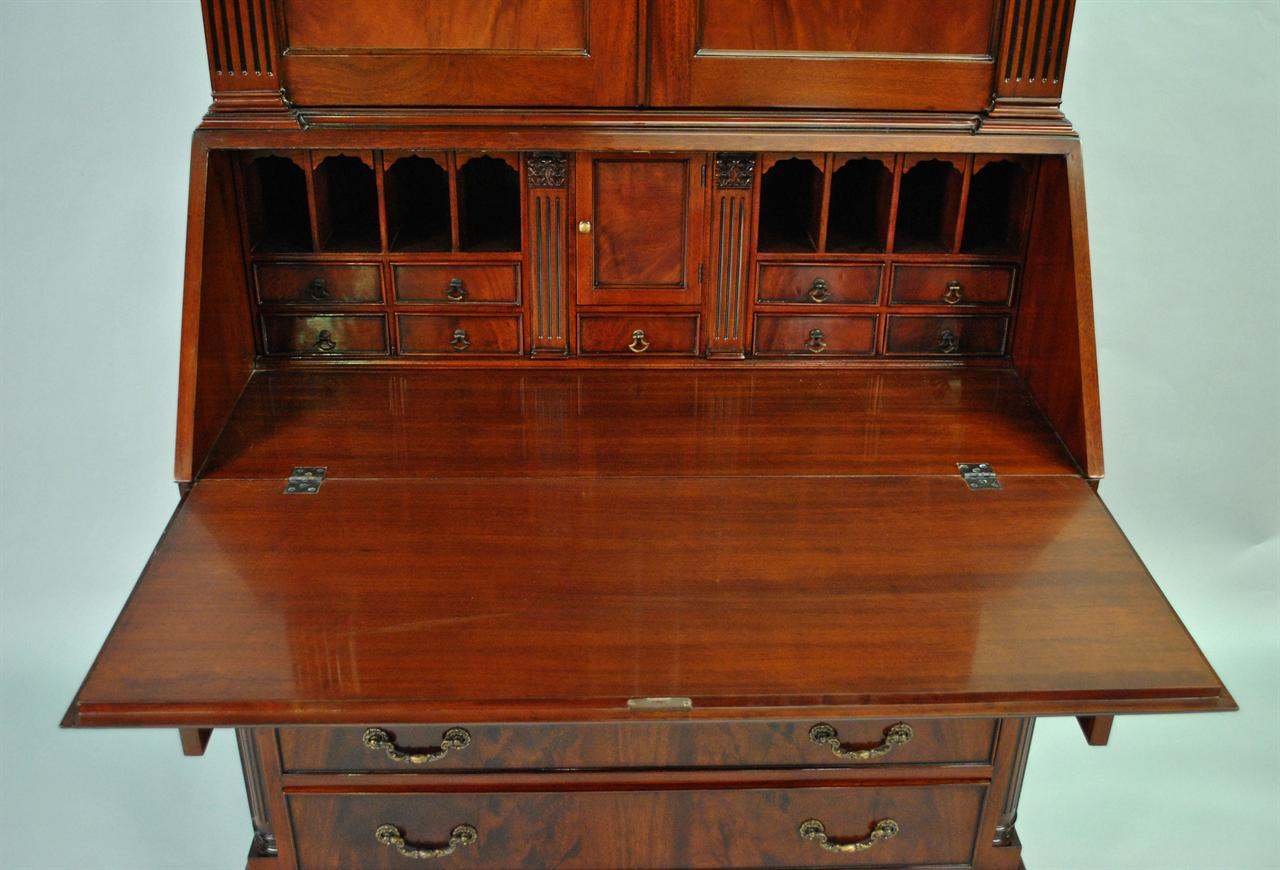 product made mango wood secretary drop of with desk hutch front