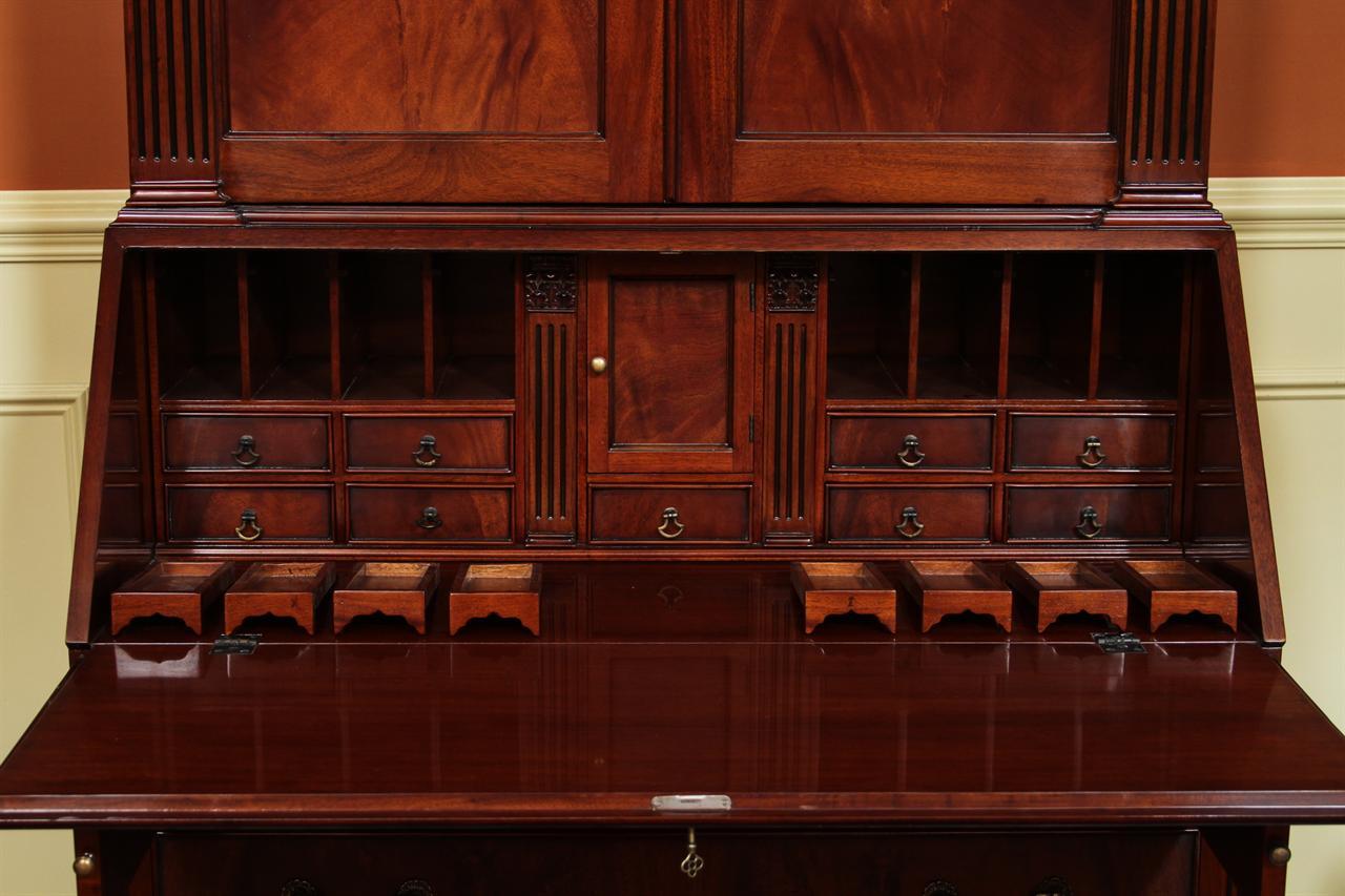 antique mahogany secretary desk Antique Style Secretary Desk, Colonial Secretary desk antique mahogany secretary desk