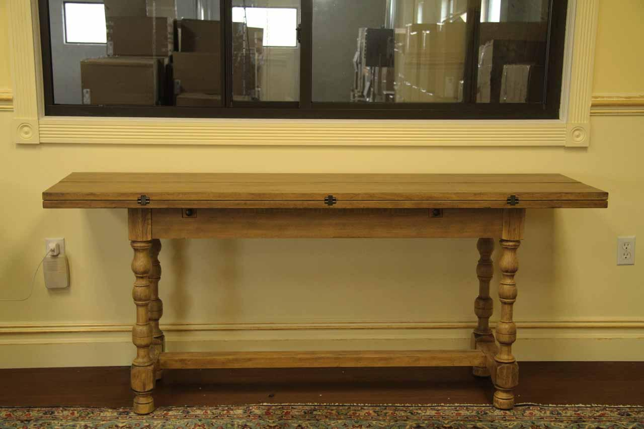 country flip top console table folding table